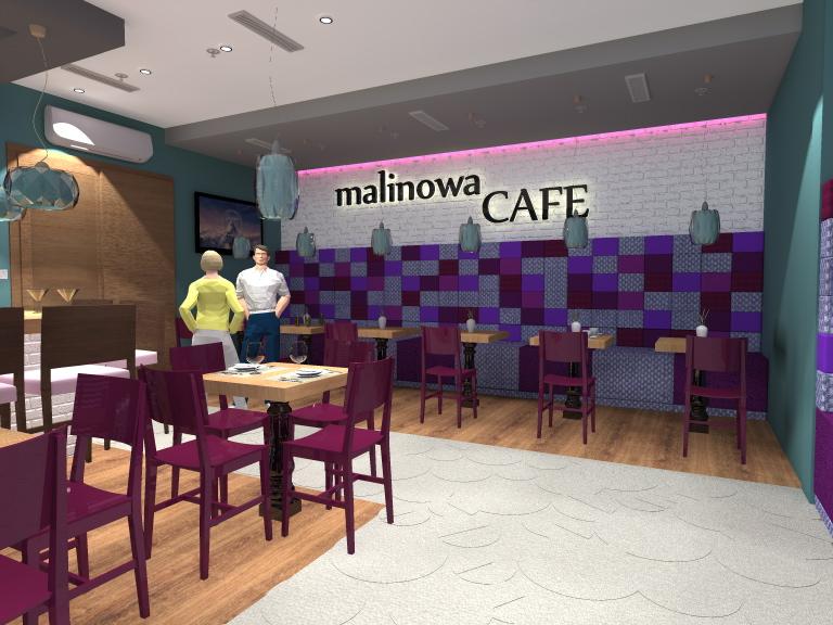 Projekt kawiarni, 80 mkw.