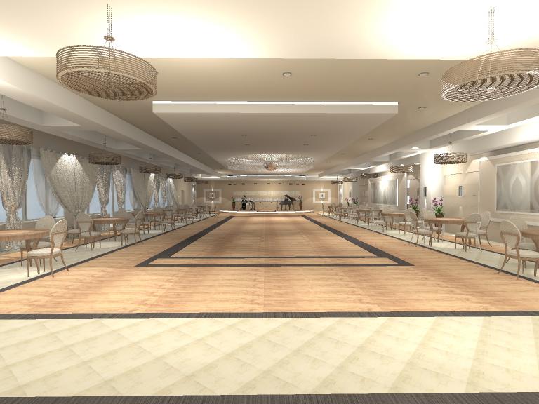 Projekt sali weselnej, 478 mkw.